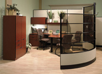 Executive Wood Trim Office Cubicles And Workstation Designs