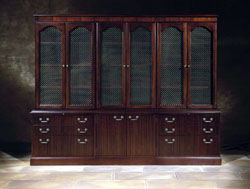 traditional bookcase and file storage