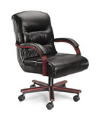 plush mid-back executive chair