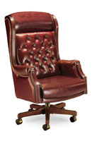 traditional judge high back chair