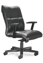 sleek leather executive mid-back chair
