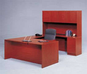 U Shaped Wood Workstation