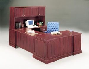 Corporate Legal Business Desk in Wood