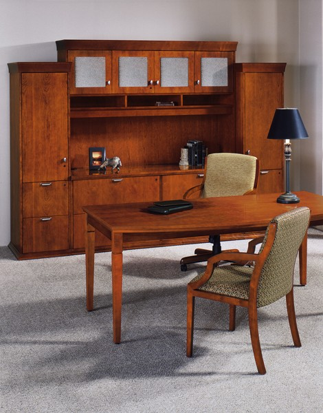 Writing Desk and Storage Cabinet Ensemble