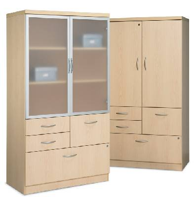 combination storage units with doors