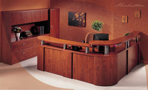 Floating Top Corner Reception Desk