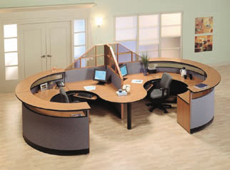 laminate reception desk