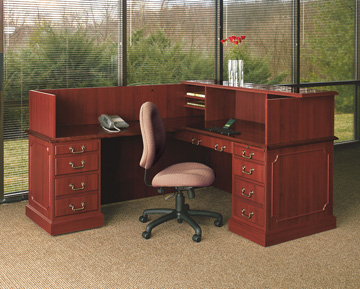 Traditional Reception L-Shape Desk