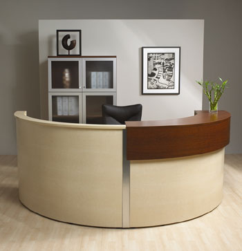 Half Circle Round Reception Desk