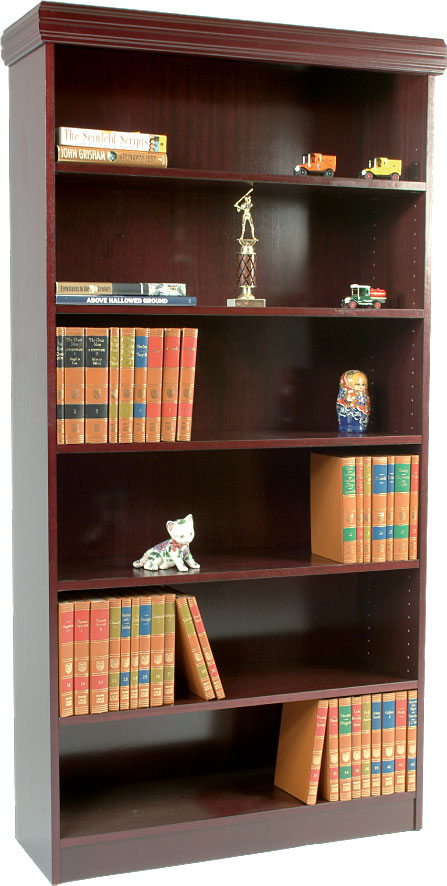 BiNA: wood bookcase with trim kit