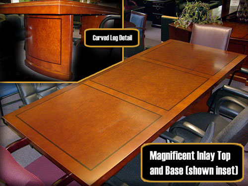 wood rectangular conference table