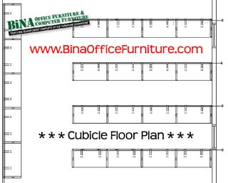 Bina office furniture online mineola garden city new for Cubicle floor plan