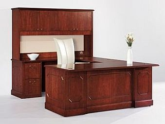 traditional wood executive desk