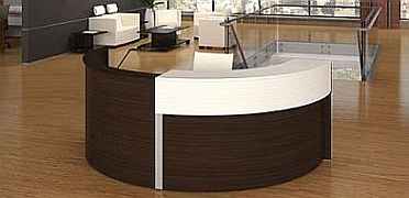 Semi Circle Laminate Reception Desk Bina Office