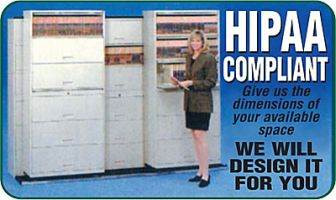 HIPAA compliant medical file cabinet