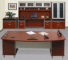 nyc skyline office desk and storage units