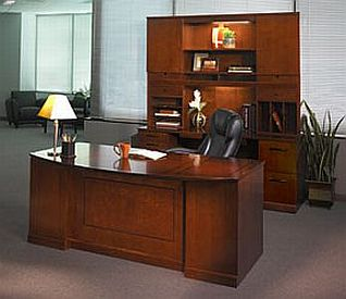 executive wood desk set