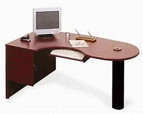 curved office desk