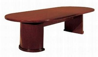 cherry conference table, oval