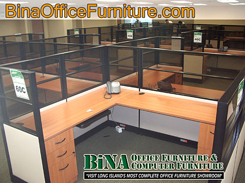 BiNA Office Furniture L Shaped Cubicle Workstation