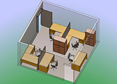 Bina office furniture new york office desk space planning for New office layout design
