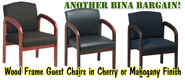 bina discount office furniture wood frame guest vistor arm chairs