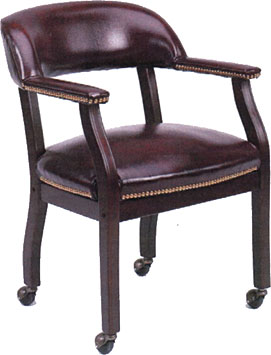 Traditional Captains Chair with casters