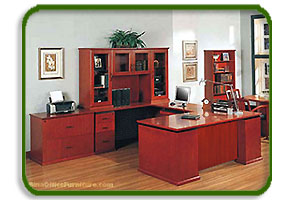 cherry finish wood desk and credenza cherry office furniture