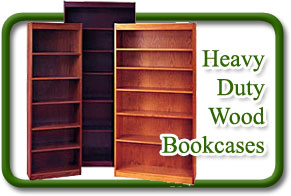 heavy duty wood bookcases