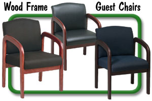 wood frame guest chairs