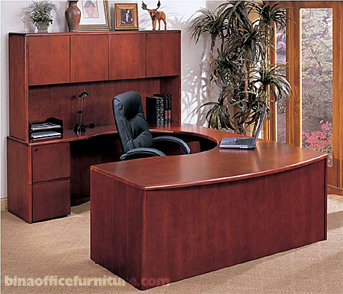 bina discount office furniture u shape wood office suite long